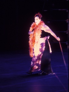 "Susie Chaney in OMC's ""Paradise Orange"""